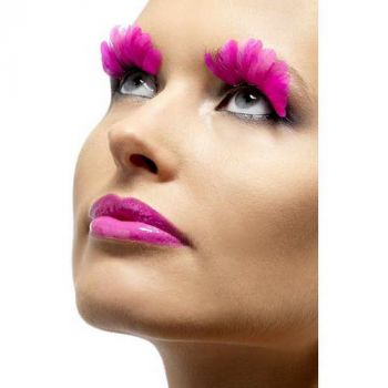 Feather Eyelashes : Neon Pink*