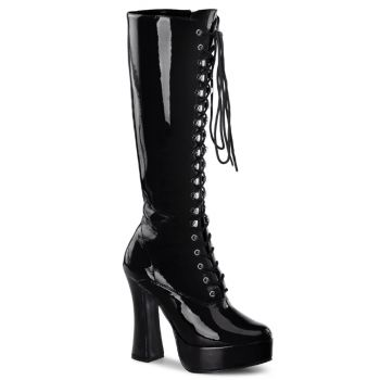 Knee Boot ELECTRA-2020 - Patent Black