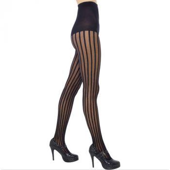 Sheer Striped Stockings - Black*
