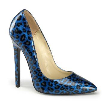 Leo High Heels SEXY-20 - Patent blue