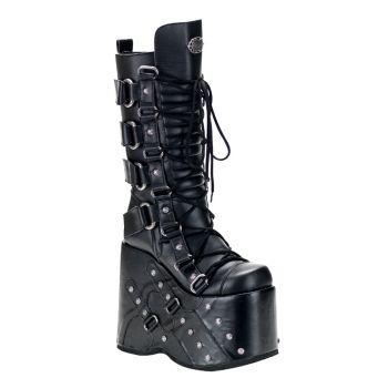 Platform Boots STACK-318 - PU Black