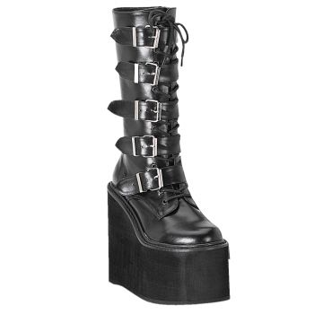 Gothic Boots SWING-220 - PU Black