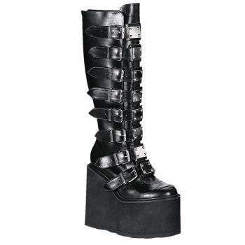 Gothic Boots SWING-815 - PU Black