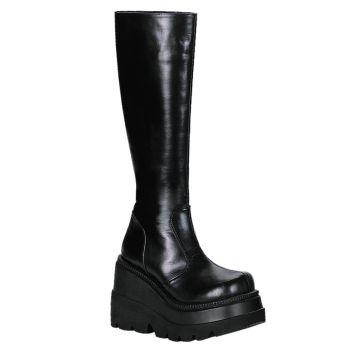Platform Knee Boots SHAKER-100