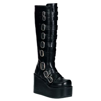 Gothic Boots CONCORD-108 - PU Black