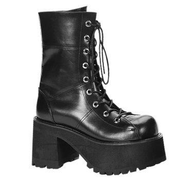Gothic Platform Boots RANGER-301 - PU Black