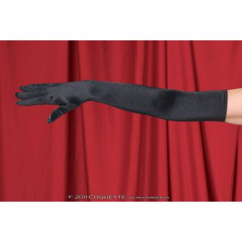 Satin Gloves - Black