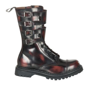 Calf Boots ATTACK-10 - Leather Burgundy