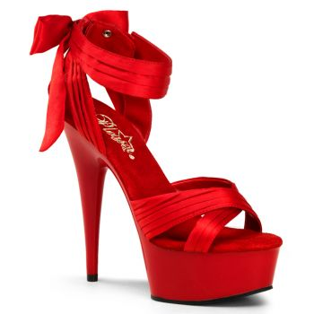 Platform Sandal DELIGHT-668 - Satin Red
