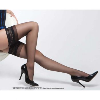 Stay Up Stockings with Lace - Black*