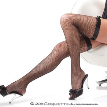 Fishnet Stockings with Sequins - Black*