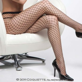 Diamont Net Pantyhose - Black*