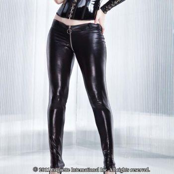 Wetlook Pants : Black*