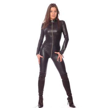 SWEETY Wetlook Catsuit : Black*