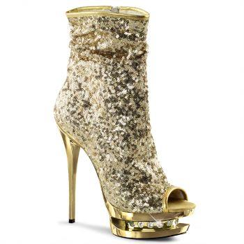 Platform Ankle Boots BLONDIE-R-1008 - Golden