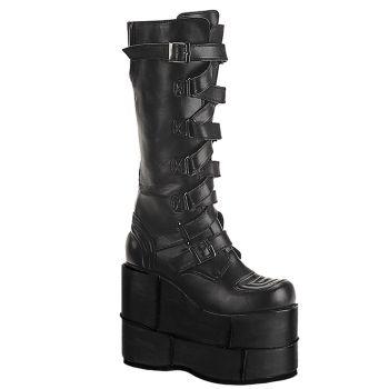 Platform Boots STACK-308 - PU Black