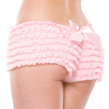Ruffle Panty with Bow : Pink*