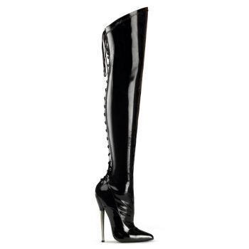 Fetish Boots DAGGER-2020 - Patent Black
