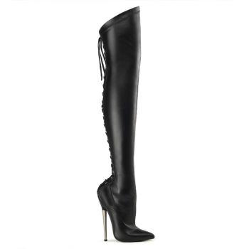 Fetish Boots DAGGER-2020 - PU Black