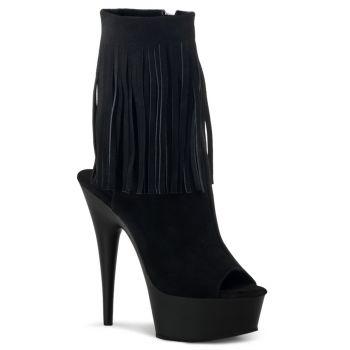 Platform ankle boots DELIGHT-1019 - Suede Black