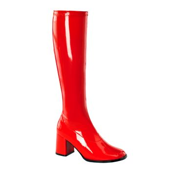 Retro Boots GOGO-300 : Patent red*