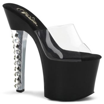 Platform mules FEARLESS-701 - Clear/Black