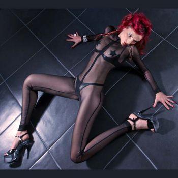 Net Catsuit SWEETY : Black*