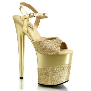 Platform High Heels FLAMINGO-809-2G - Gold