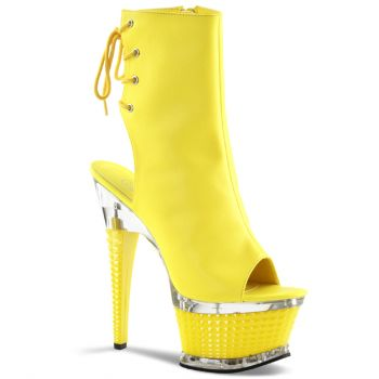 Neon Ankle Boots ILLUSION-1018UV - Yellow