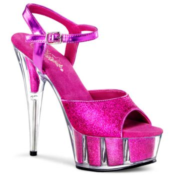 Platform High Heels DELIGHT-609-5G - Hot Pink