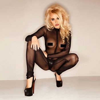 Tulle Catsuit - Black