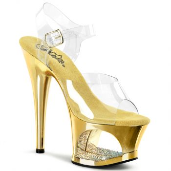 Platform High Heels MOON-708DMCH - Gold