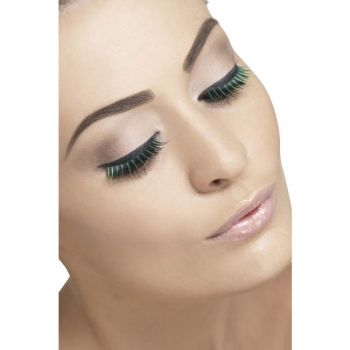 Two-tone Eyelashes : Black/Green*