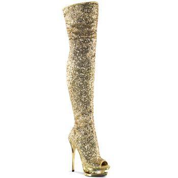 Platform Boots BLONDIE-R-3011 - Gold