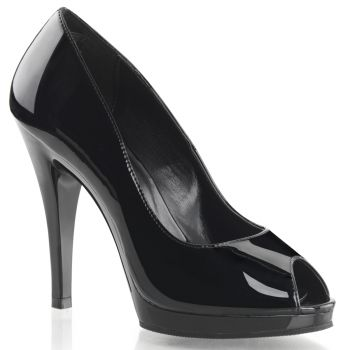 Peep Toes FLAIR-474 -  Black