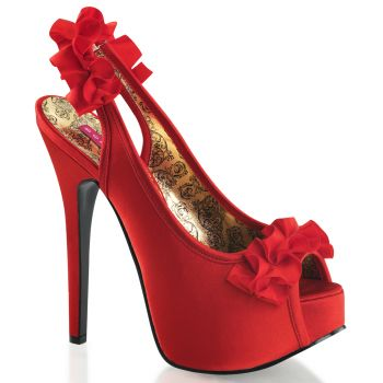 Platform Pumps TEEZE-56 - Red