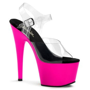 Platform High Heels ADORE-708UV - Neon Pink