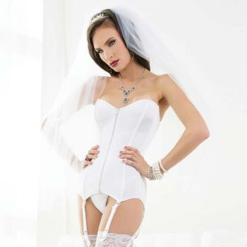 Garter Lace-up Corsage - White*