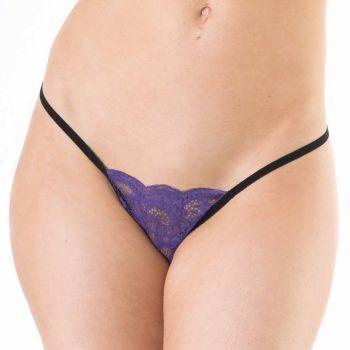 Lace String - Purple