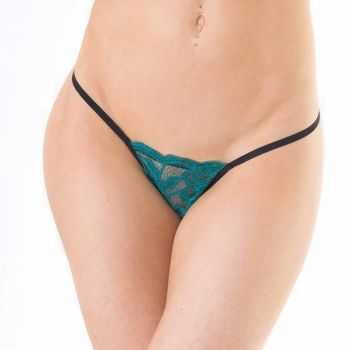 Lace String - Teal