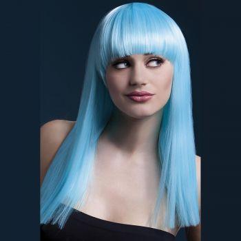 Longhair Wig ALEXIA (rounded bangs) - Neon Aqua*