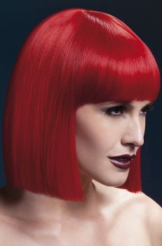 Medium-Length Bob Wig LOLA - Red*