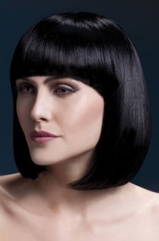 Bob Wig ELISE, medium length - Black
