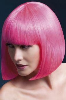 Bob Wig ELISE, medium length - Neon Pink