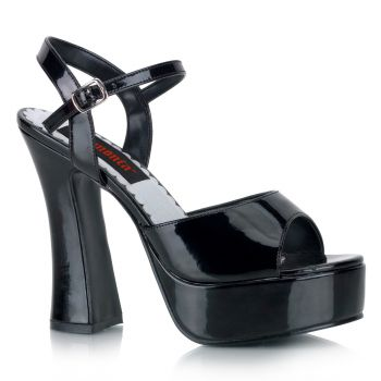 Platform high-heeled sandal DOLLY-09 - Patent Black