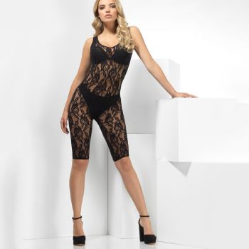 Lace Bodystocking Crotchless - Black*