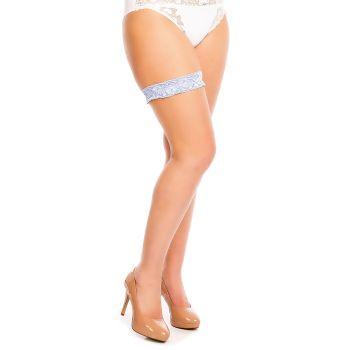 Lace Garter - Light Blue*