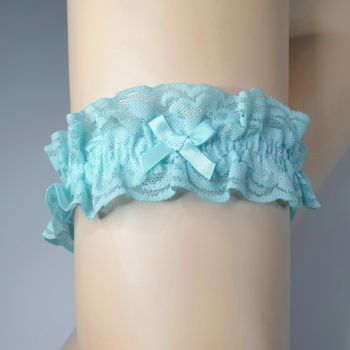 Lace Garter - Turquoise*