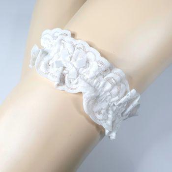 Lace Garter - White*