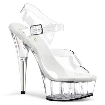 Platform High Heels DELIGHT-608 - Clear